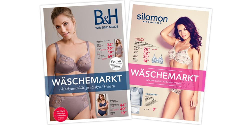 Zeitungsbeilage für die Modehäuser B&H und Silomon