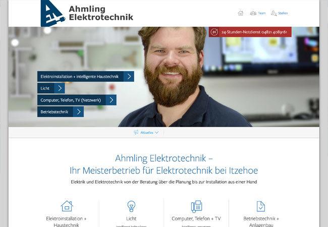 Website von Ahmling Elektrotechnik