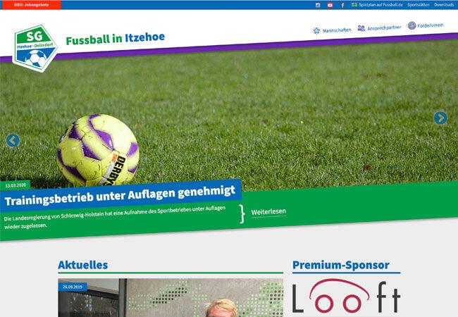 Website der Fussballsparte des Sport-Club Itzehoe