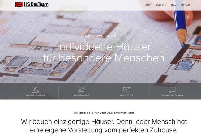 Website HS Bauteam – Graugans Werbeagentur