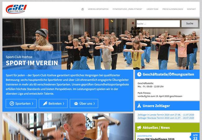 Website Sport-Club Itzehoe – Graugans Werbeagentur