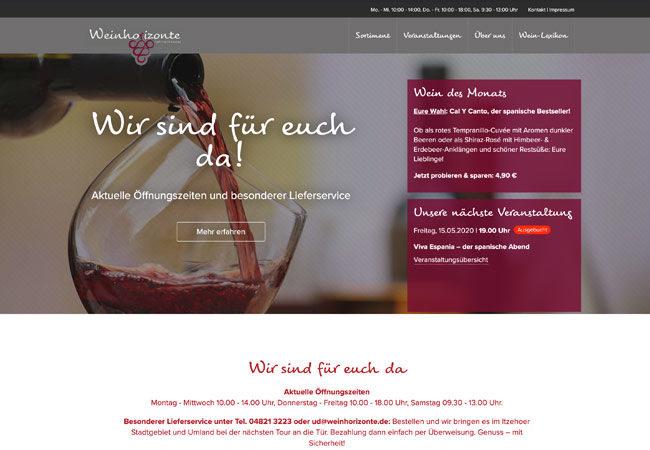 Website Weinhorizonte – Graugans Werbeagentur
