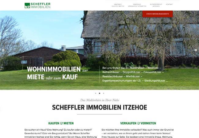 Website von Scheffler Immobilien