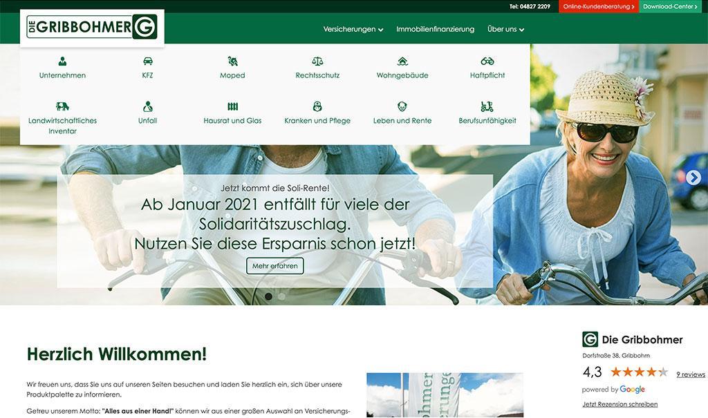 Redesign der Website DIE GRIBBOHMER